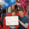 Rob Deering and son at the Virgin London Marathon Expo 2011